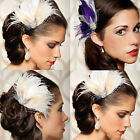WHOLESALE Women Feather Hair Clip Rhinestone Hair Clip Party Bridal Wedding Gift