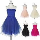 Girls Bridesmaids Gown Cocktail Evening Prom Formal Celebrity Short Mini Dresses