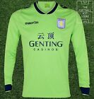 Aston Villa Away Shirt - Macron Long Sleeved Football Shirt - Mens - M/L/XL