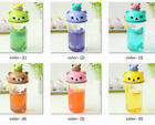 Cute cartoon portable Water Bottle Kids Sports Straw Transparent plastic cups