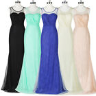 Summer Long Lace Bridesmaid Formal Gown Mermaid Party Evening Prom Maxi Dresses