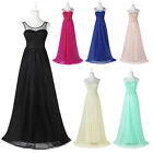 Starzz Long Sleeveless LACE Formal Bridesmaid Gown Evening Prom Party Dresses ++
