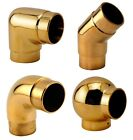 "Bar Foot Rail Elbow Fittings - Polished Brass - 2"" OD - 90/135 Tubing Angles"