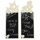 New Wooden Chalk Board Blackboard Heart & Butterfly Shaped ideal for home & work