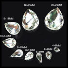 multi size crystal tear shape glass stone silver foiled rhinestones DIY decor