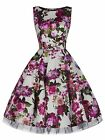 Ladies 40s 50s Audrey Vintage Floral Cocktail Party Bridesmaid Dress New 8 - 18