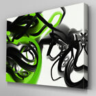 AB160 Green and Black Abstract Canvas Wall Art Ready to Hang Picture Print