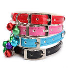 Diamante PU Leather Band Rhinestone Bell Dog Collar Pet Puppy Buckle Neck Strap