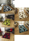 Large Contemporary Floor Rug Decorative Hand Carved Leaf Design Home Furnishings