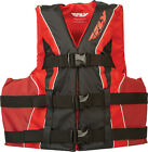 Fly Racing Nylon Watersports Life Vest Jacket (Black/Red) Adult/Child Sizes