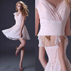 PLUS SIZE Bridesmaid Formal GRAD Wedding Prom Gown Short Party Evening Dress NEW