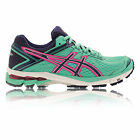 Asics GT-1000 4 Womens Green Support Road Running Sports Shoes Trainers Pumps