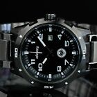 INFANTRY MENS QUARTZ WRIST WATCH DATE GUNMETAL BLACK SPORT STAINLESS STEEL ARMY