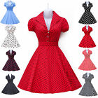 50s 60s Vintage Housewife Rockabilly Swing Pinup Dress PROM EVENING DRESS Plus +