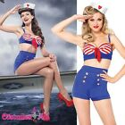 Ladies Leg Avenue On Deck Darling Sailor Costume Rockabilly Pin Up Fancy Dress