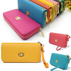 Women PU Leather Wallet Zip Clutch Case Purse Lady Long Handbag Bag Card Holder