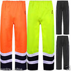 TWO TONE HI VIS VIZ VISIBILITY OVER TROUSER REFLECTIVE SAFTEY WATERPROOF RAIL
