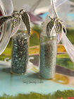 ANGEL TEARS GLITTER BOTTLE NECKLACE PENDANT WINGS  LOSS MISCARRIAGE MEMORIAL