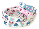 Bling Pet Dog Collar and Leash set Pink or Blue