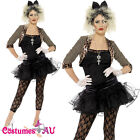 Womens Madonna 1980s Wild Child Costume Pop Diva Ladies 80s Rock Fancy Dress 70s
