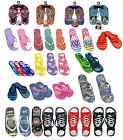 Kids Childrens BOYS GIRLS Flip Flops Sizes Childs 7 to Adult 6 Sandals Brand
