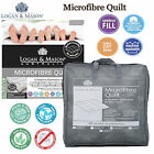 Microfibre 350gsm Quilt Doona Logan & Mason SINGLE DOUBLE QUEEN KING Super King