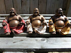 Fair Trade Hand Made Resin Chinese Laughing Buddha Statue From Indonesia 14cm