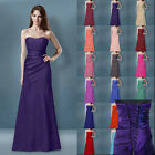 Sexy Bridesmaids Dresses Long Strapless Evening Prom Gown Dress Size 6-26