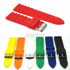 20mm 22mm 24mm Straps Divers Silicone Rubber Sports Watch Band Strap Fashion