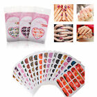 Nail Art Wraps Foils Sticker - Random Design Tips Decal 10/20 Sheet Set (JY)