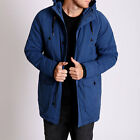 New Men St Goliath HAUNTED Button Down Long Sleeve Quilted Jacket NAVY Coat