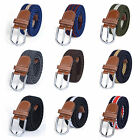 Mens Womens Vintage Elastic Cotton Braided Belts Webbing Casual Waistband Strap