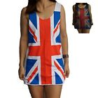 Union Jack Vest Tank-Top Singlet (T-Shirt Dress) Sizes S M L XL