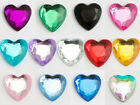 Heart Self Adhesive Stick on Gems Cards Invitations Various Colours