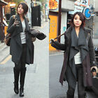 Fashion Womens Woolen Blend Cardigan Sweater Loose Trench Coat Jacket NEW