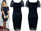Jessica Wright Celebrity Womens Lace Off Shoulder Bodycon Dress Bardot Off Party