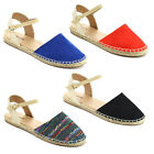 QUPID TOTE-02 Women's Jute Rope Espadrille Slingback Two Piece Casual Flats