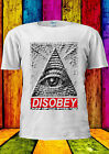 Illuminati Eye Mason Pyramid DISOBEY T-shirt Vest Tank Top Men Women Unisex 1756