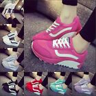Women Casual Flat Heel Lace Up Ventilate Sport Running Travlling Sneakers Shoes