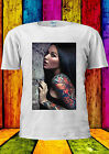 Sexy Tattoo Girl Brunet Naked T-shirt Vest Tank Top Men Women Unisex 132
