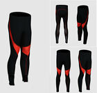 Men's thermal cycling bicycle long trousers cushion padded bike pants S-XXXXL