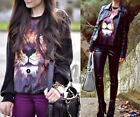 AU STOCK 3D LION PRINT GALAXY SWEATSHIRT HOODIES PULLOVER JUMPER TOP T140