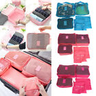 6Pcs Clothes Underwear Socks Packing Cube Storage Bag Travel Luggage Organizer