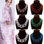 Lackingone ACRYL Transparent Collar Choker Statement Bib Chain Necklace Pendant