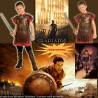Boys Gladiator Costume Medieval Warrior Child Historical Soldier M/L FREE SWORD