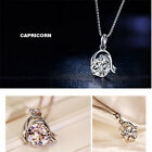 Glamorous Silver Plated 12 Constellations Crystal Pendant Unique Style Necklace