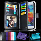 Premium Samsung Galaxy S5 i9600 Case Magnet Leather Wallet Card Flip Cover