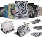 Quality Printed Folio Case Leather Flip Card Wallet Cover w/Stand For Apple ipad
