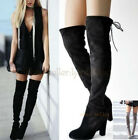 US4-8 Lady's Stythetic /Leather Thigh High Over the Knee Boot High Heels Booties