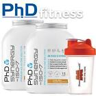 2 x PhD Nutrition Synergy ISO-7 2kg + FREE Shaker